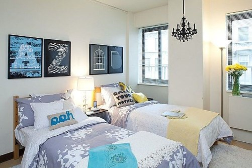 Awesome Dorm Room Decoration With Double Bed 03