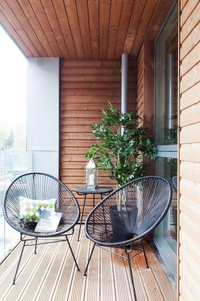 Comfy Small Seating Area In Your Balcony 26