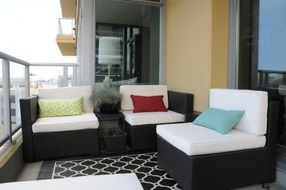 Comfy Small Seating Area In Your Balcony 28