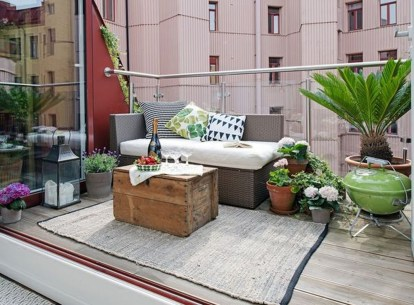 Comfy Small Seating Area In Your Balcony 29