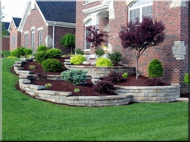 Fantastic Flower Landscape Design Ideas For Front Yard 09
