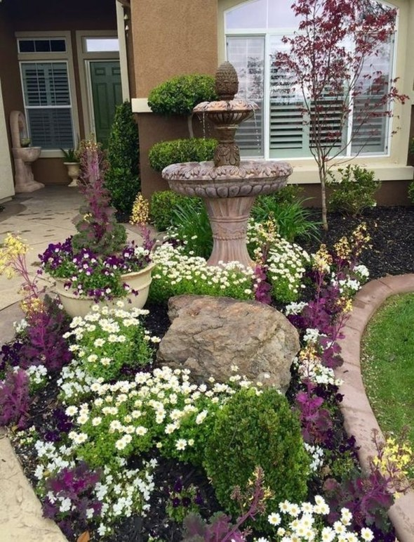 Fantastic Flower Landscape Design Ideas For Front Yard 18