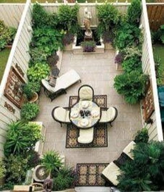 Small Courtyard Design With Some House Plants 17