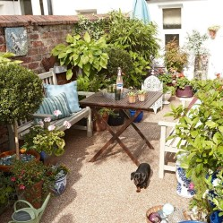 Small Courtyard Design With Some House Plants 29