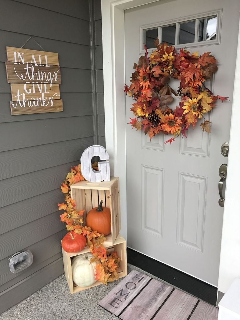 Stunning Fall Front Porch Decoration To Inspire Yourself 40