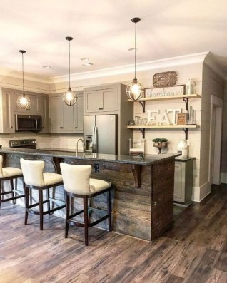 Farmhouse Kitchen Decorating Ideas With Wooden Cabinet 06