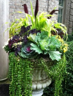 Lovely Fall Garden Idea With Perfect Ornaments 27