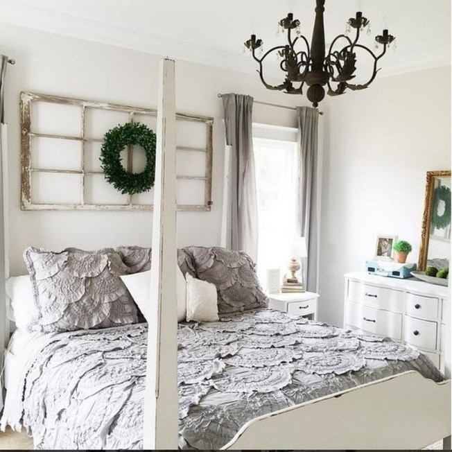 Nice Fall Bedroom Decoration For Farmhouse Style 03