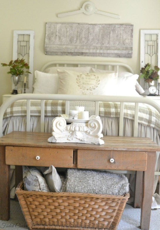 Nice Fall Bedroom Decoration For Farmhouse Style 29
