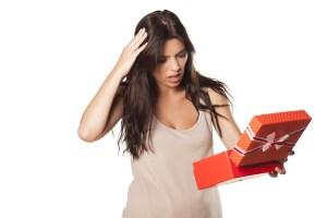 ajándék csalódás