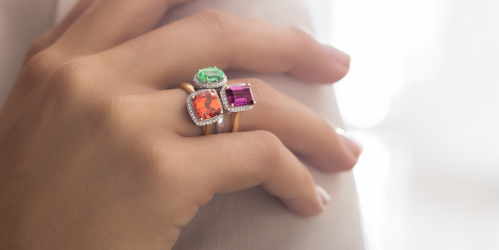 rings color gemstones