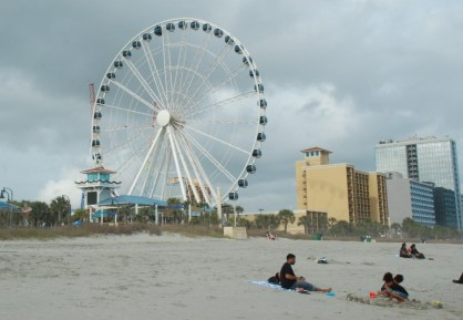 The SkyWheel; I knew when I saw it on my first walk that I would ride it soon.