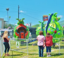 """Kid's' ride on the Midway. What we used to call the """"Twister"""" disguised as a dragon."""