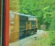 Look for Opportunities to Photograph the Engine from the Back of the Train