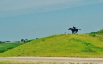 Silhouettes of Pony Express Riders could be seen along Rt 36.
