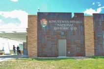 The Minuteman Missile National Historic Site Visitor Center on I-90.