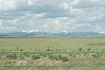 Enroute to Jackson Hole, this was our best view of the Tetons--still well to the south.