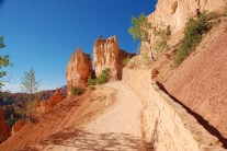 A trail back up to the rim of the canyon