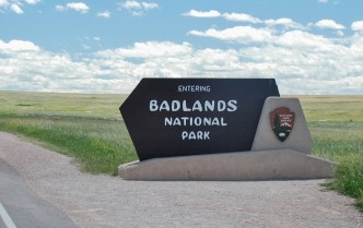 The entrance to the Badlands is just a few miles beyond Wall Drug.