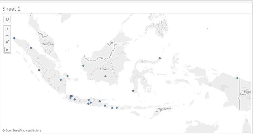 1 day ago· gambar, peta, indonesia, mewarnai wallpaper hd. Tableau Memperbaiki Mapping Kota Pada Peta Knowledge Renisa