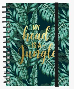 A4 Defter 3in1 Spiralli - Jungle - Legami