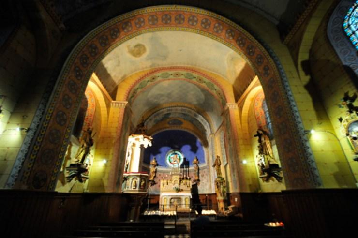 Le nef de l'église de Rennes-Le-Château