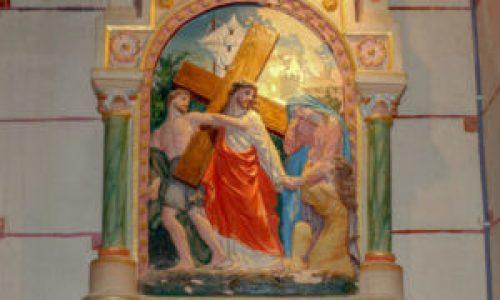 Station IV du chemin de croix de l'église de Rennes-Le-Château
