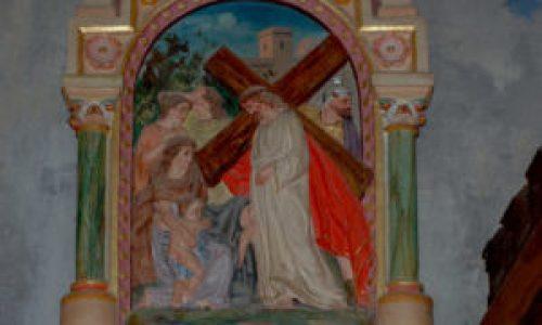 Station VIII du chemin de croix de l'église de Rennes-Le-Château