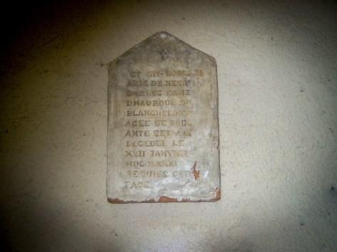 Fac-similé de la stèle de la tombe de Marie de Nègre d'Able