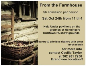 From the Farmhouse flyer