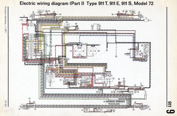 porsche wiring diagram 911 1973  wiring diagram cycle