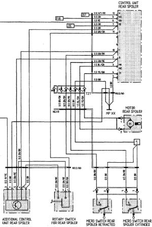 Wiring Diagram for Rear Spoiler  Rennlist  Porsche Discussion Forums