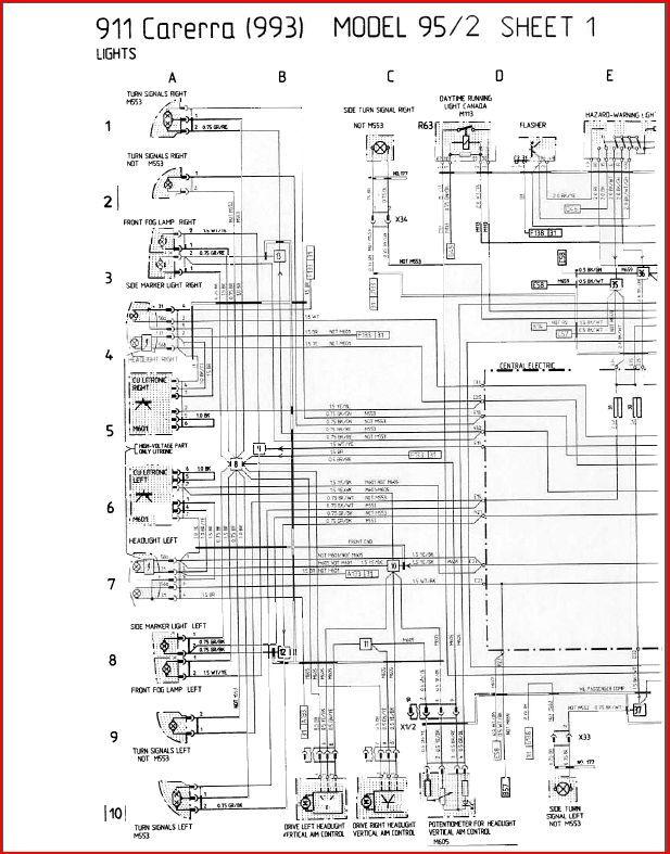 993 c4 1995 wiring diagram  hazards  rennlist  porsche