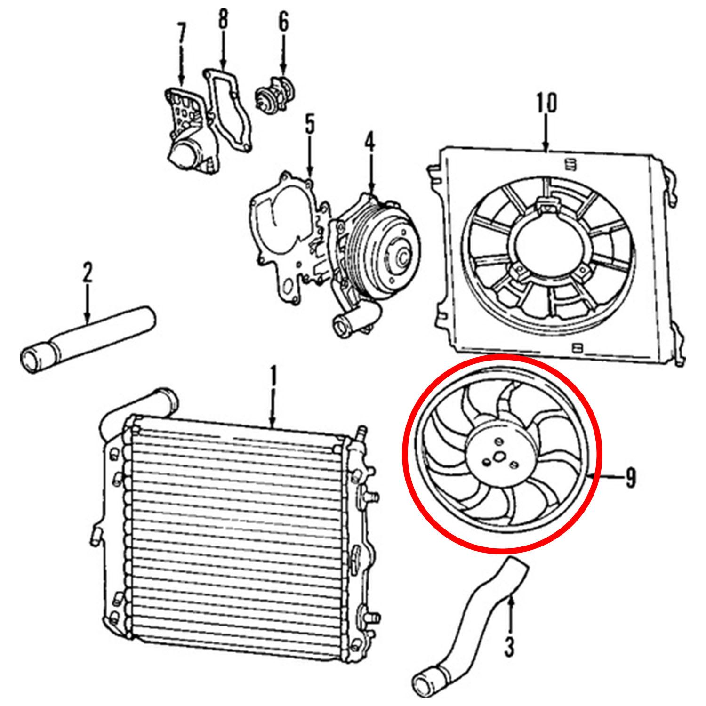 Radiator Fan Boxster 97 04 Carrera 99 04 Non Turbo