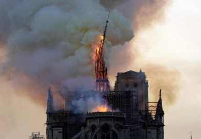 Notre Dame Burns. The World Weeps.