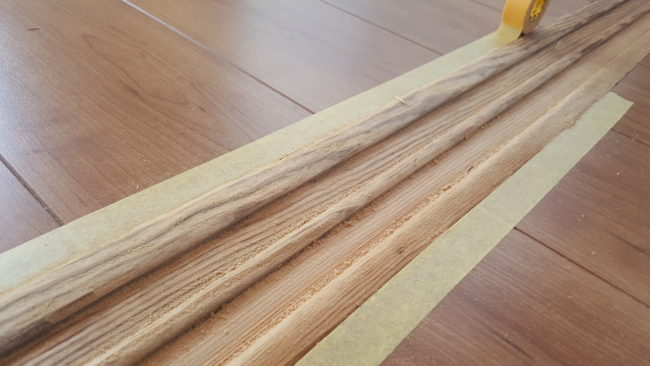 木材 研磨後
