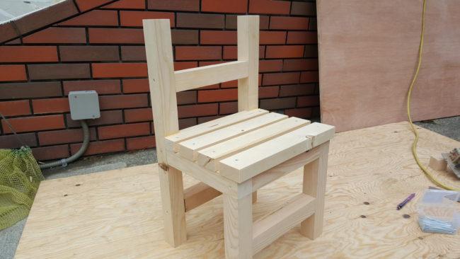 DIY 椅子の完成