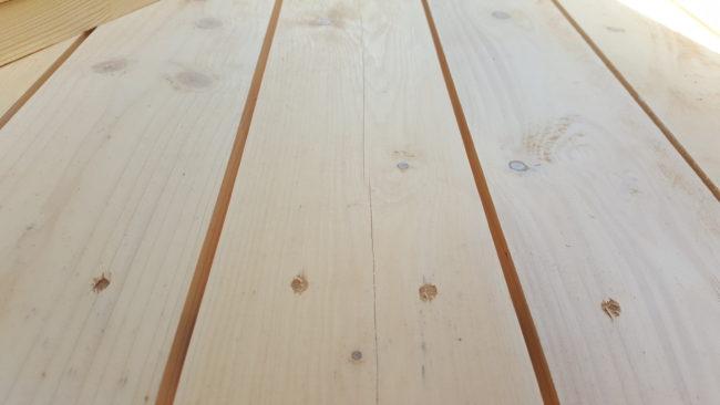 ガーデンテーブル 木材の間隔