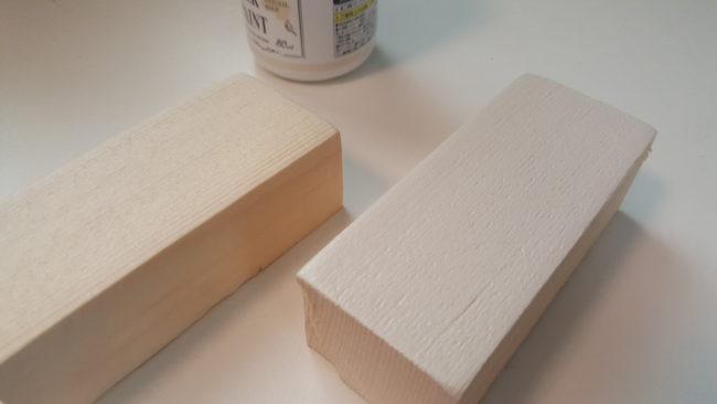 ミルクペイント塗る 白