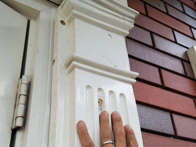 モール材を外す 外壁