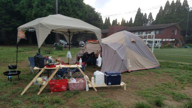 キャンプ用の便利棚 DIY 製作
