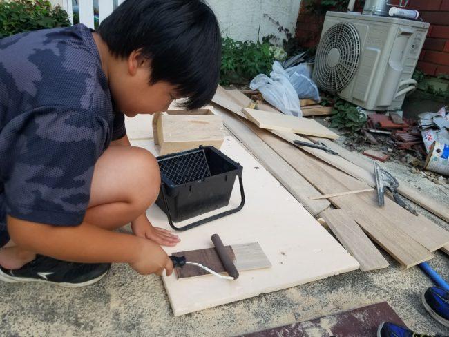 子供自由研究 巣箱作り