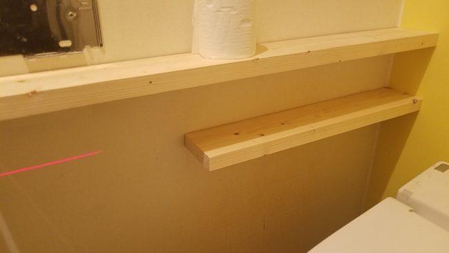 トイレルーム 棚付 DIY