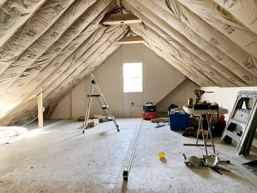 insulating the room over the garage