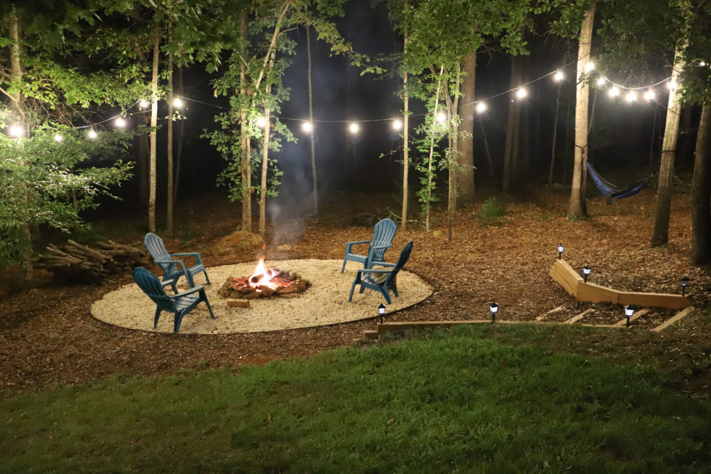 sprucing up our backyard fire pit