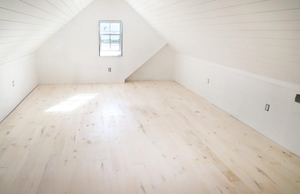 diy whitewashed wood floors