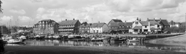 ISO 100, F18, 1/50 sec - taken at 28mm and converted to black and white - Ealing Harbour