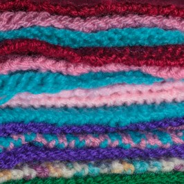 Knitted Squares - 50mm lens, ISO 100. F3.5, 1/200 sec - Manual with flash