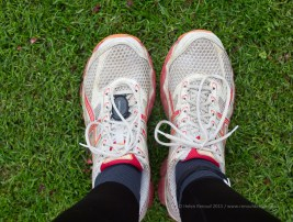 Nifty 50, ISO100, F4, 1/160sec - My running shoes
