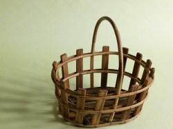Basket on Green Backdrop